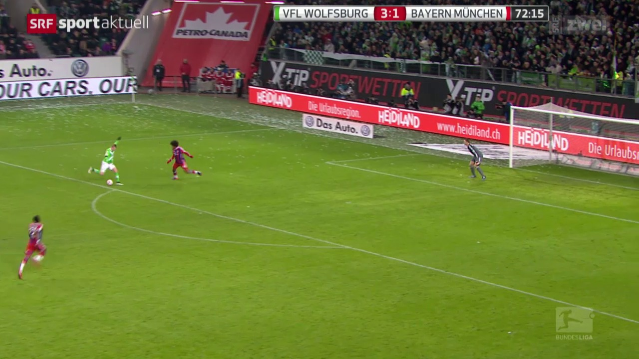 Fussball: Wolfsburg - Bayern