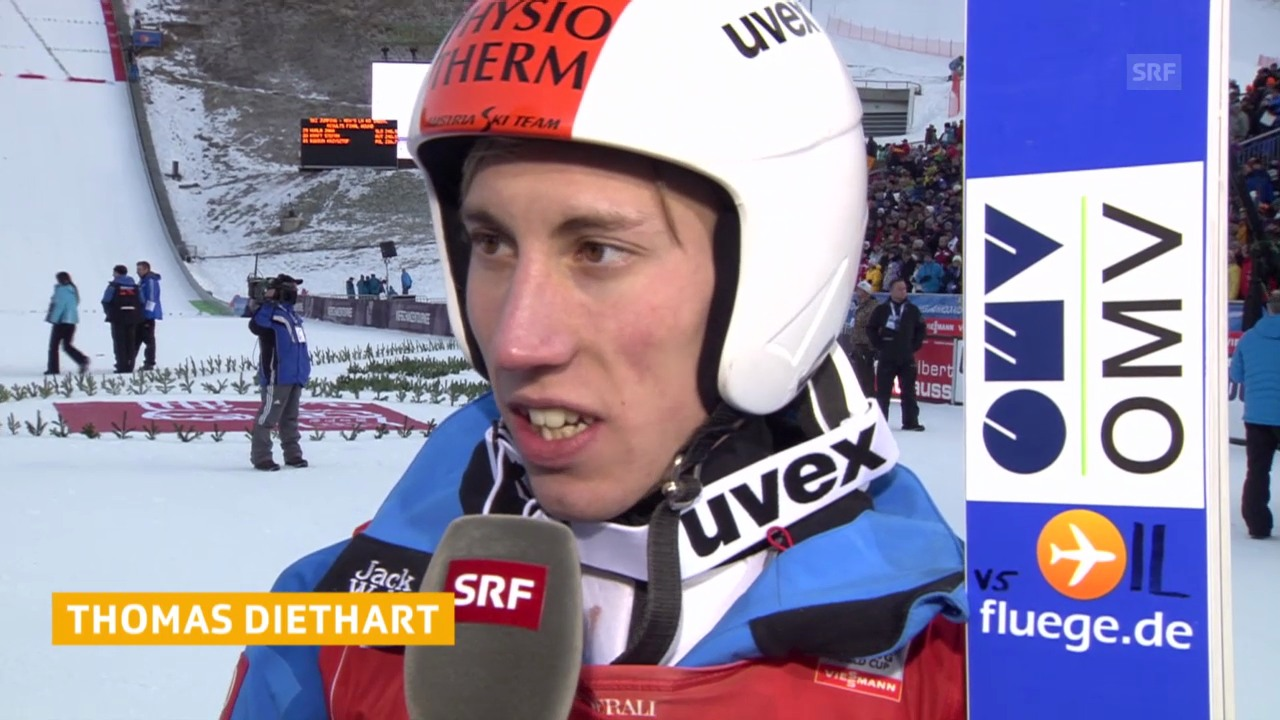 Skispringen: Vierschanzentournee Garmisch, Interview Diethart («sportlive», 1.1.2014)