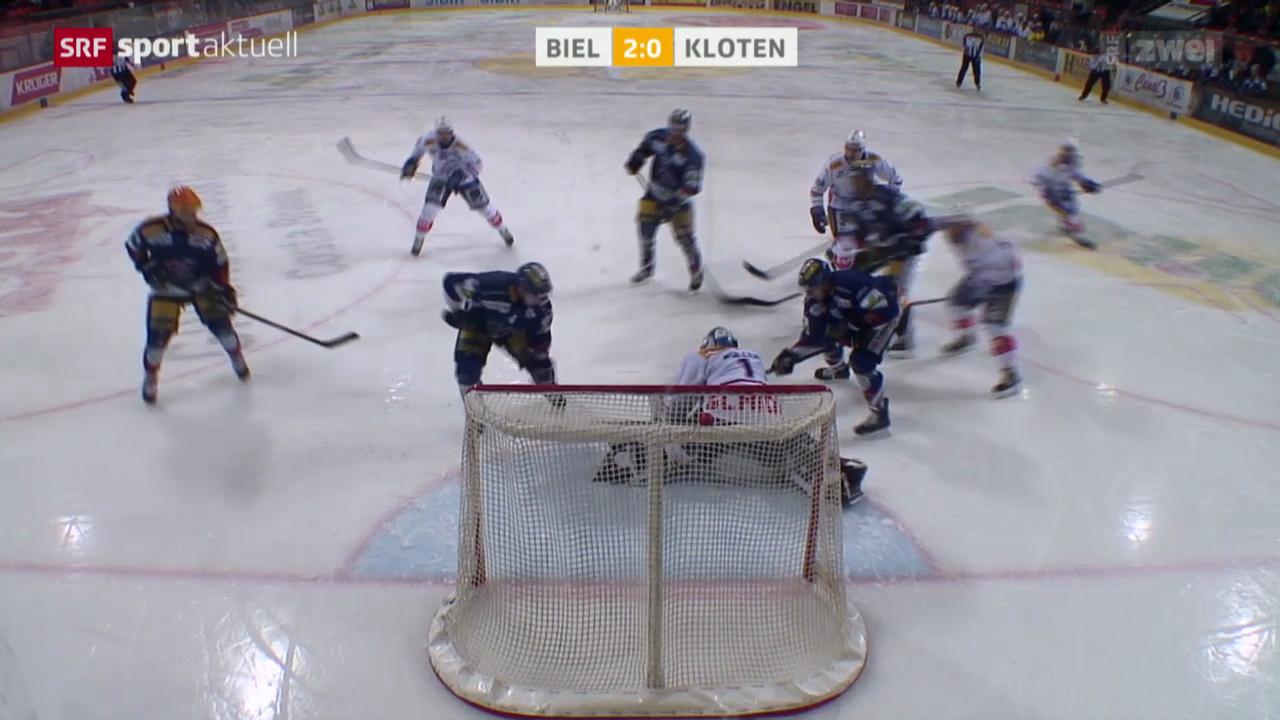 Eishockey: NLA, Biel - Kloten