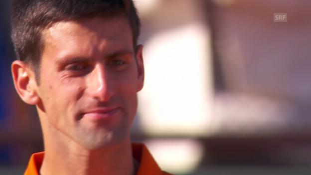 Video «Tennis: Final French Open, fairer Verlierer Djokovic» abspielen