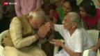 Video «Regierungswechsel in Indien» abspielen