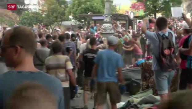 Video «Maidan-Räumung kommt nicht voran» abspielen