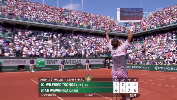 Video «Tennis: French Open, Pfiffe und Applaus für Wawrinka» abspielen