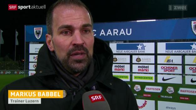 Video «Fussball: Super League, Stimmen zu Aarau - Luzern» abspielen