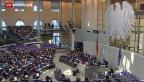 Video «Bundestag sagt Ja zu Griechenland» abspielen
