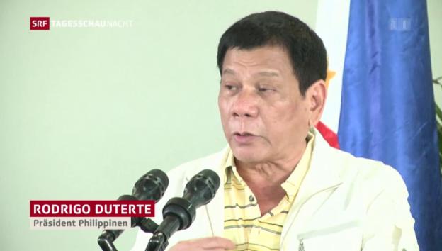 Video «Dutertes Verbalattacke gegen den US-Präsidenten» abspielen
