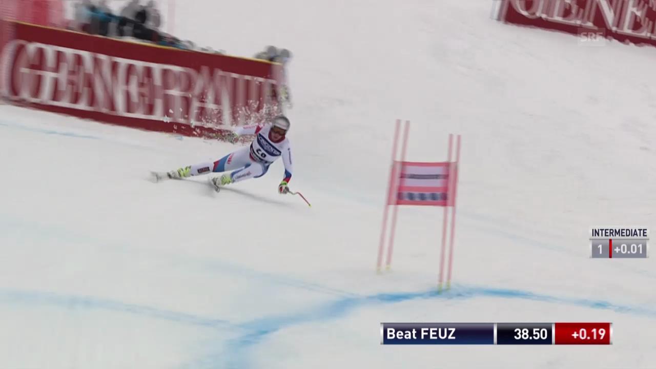 Ski Alpin: Abfahrt Kvitfjell, Fahrt von Feuz («sportlive», 01.03.2014)