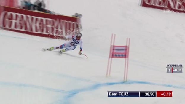 Video «Ski Alpin: Abfahrt Kvitfjell, Fahrt von Feuz («sportlive», 01.03.2014)» abspielen