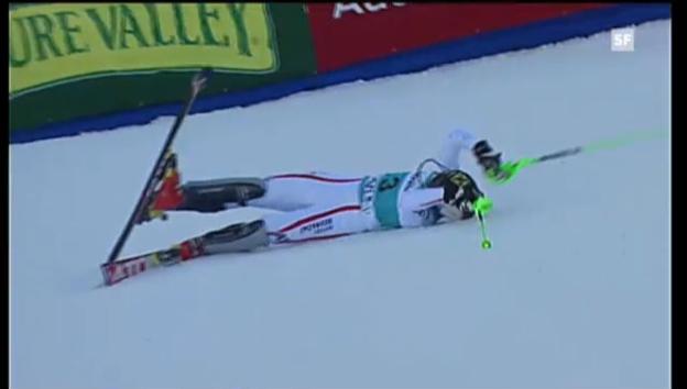 Video «Ski: Slalom, 2. Lauf Kathrin Zettel («sportlive»)» abspielen