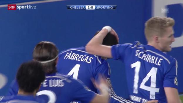 Video «Fussball: CL, Chelsea-Sporting Lissabon» abspielen