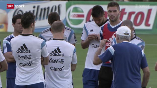 Video «FIFA WM: Argentinien vor dem Halbfinal» abspielen
