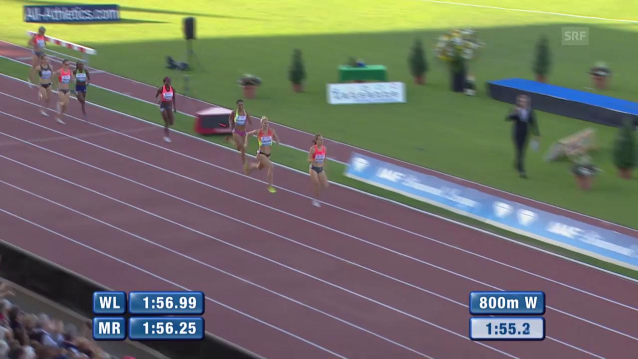 Leichtathletik: Athletissima Lausanne, 800 Meter Frauen