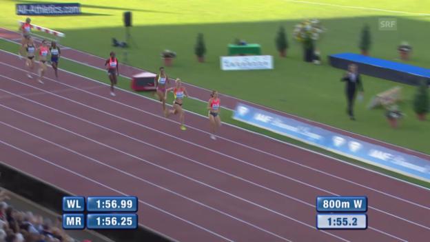 Video «Leichtathletik: Athletissima Lausanne, 800 Meter Frauen» abspielen