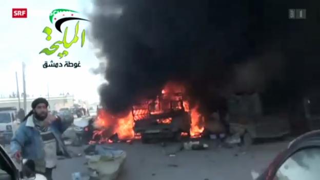 Video «Syrische Kampfjets töten Zivilisten» abspielen