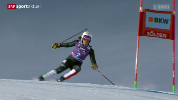 Video «Ski alpin: Riesenslalom der Frauen in Sölden» abspielen