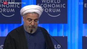 Video «Seltener Besuch des Irans am WEF» abspielen