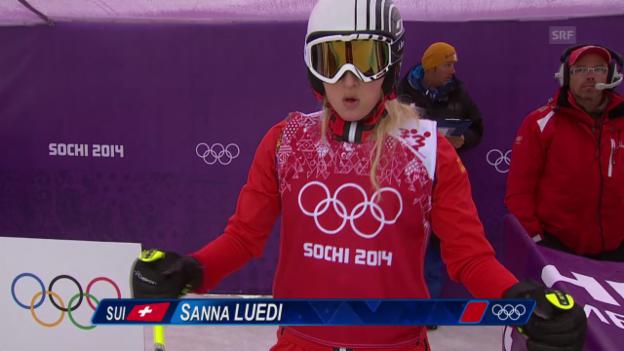Video «Skicross: Frauen, Achtelfinal mit Sanna Lüdi (sotschi direkt, 21.2.2014)» abspielen
