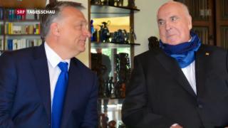 Video «Orbán besucht Altkanzler Kohl» abspielen