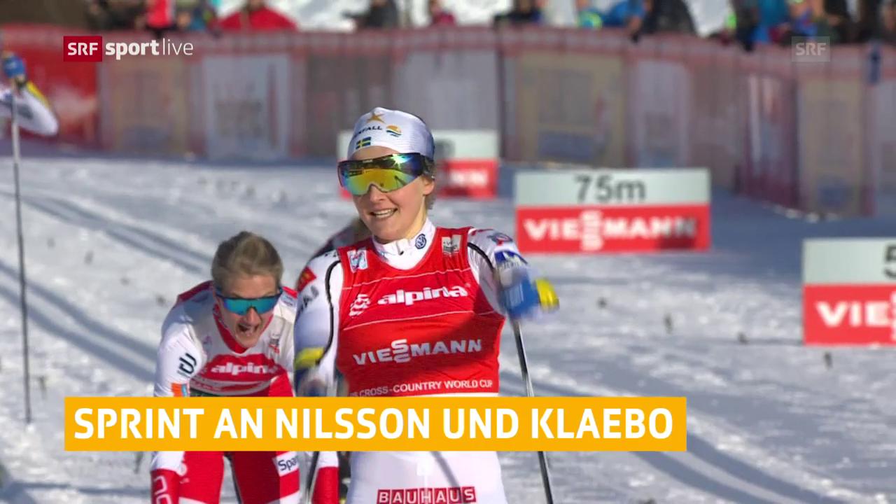 Nilsson und Klaebo gewinnen in Planica