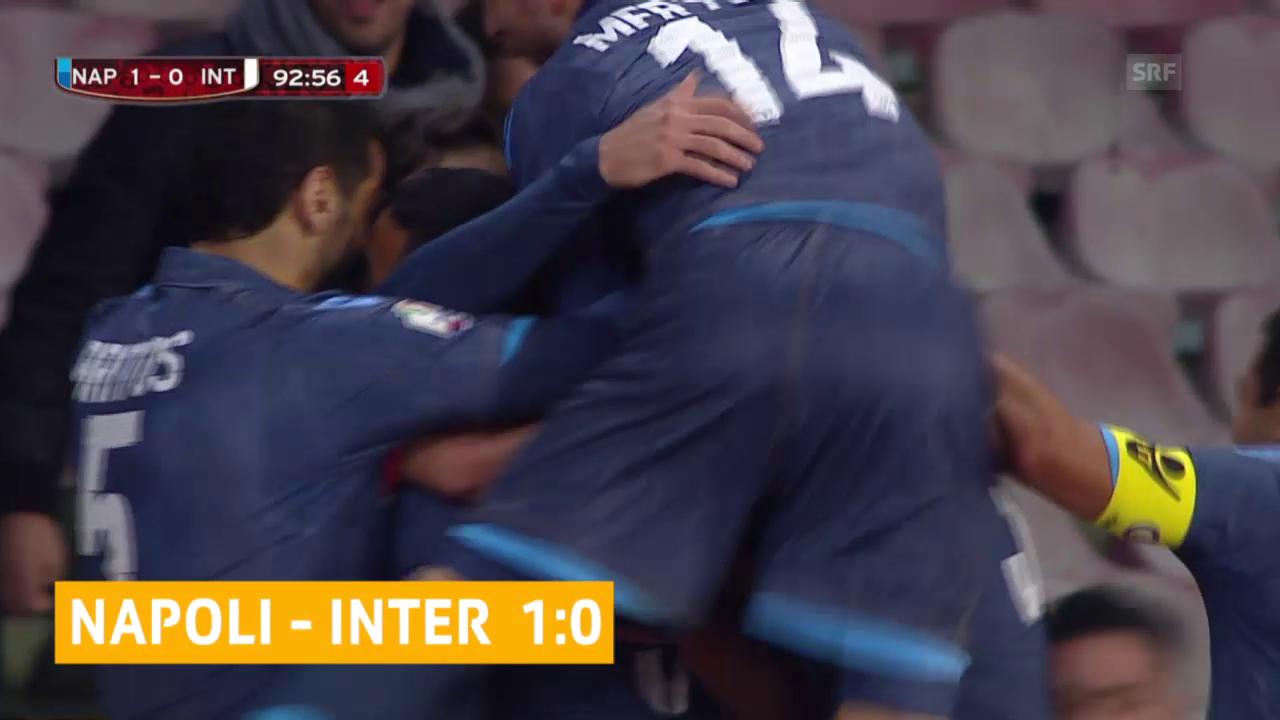 Fussball: Cup-Viertelfinal, Napoli - Inter