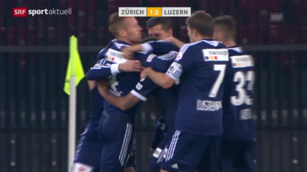 Video «Fussball: Matchbericht Zürich-Luzern («sportaktuell»)» abspielen