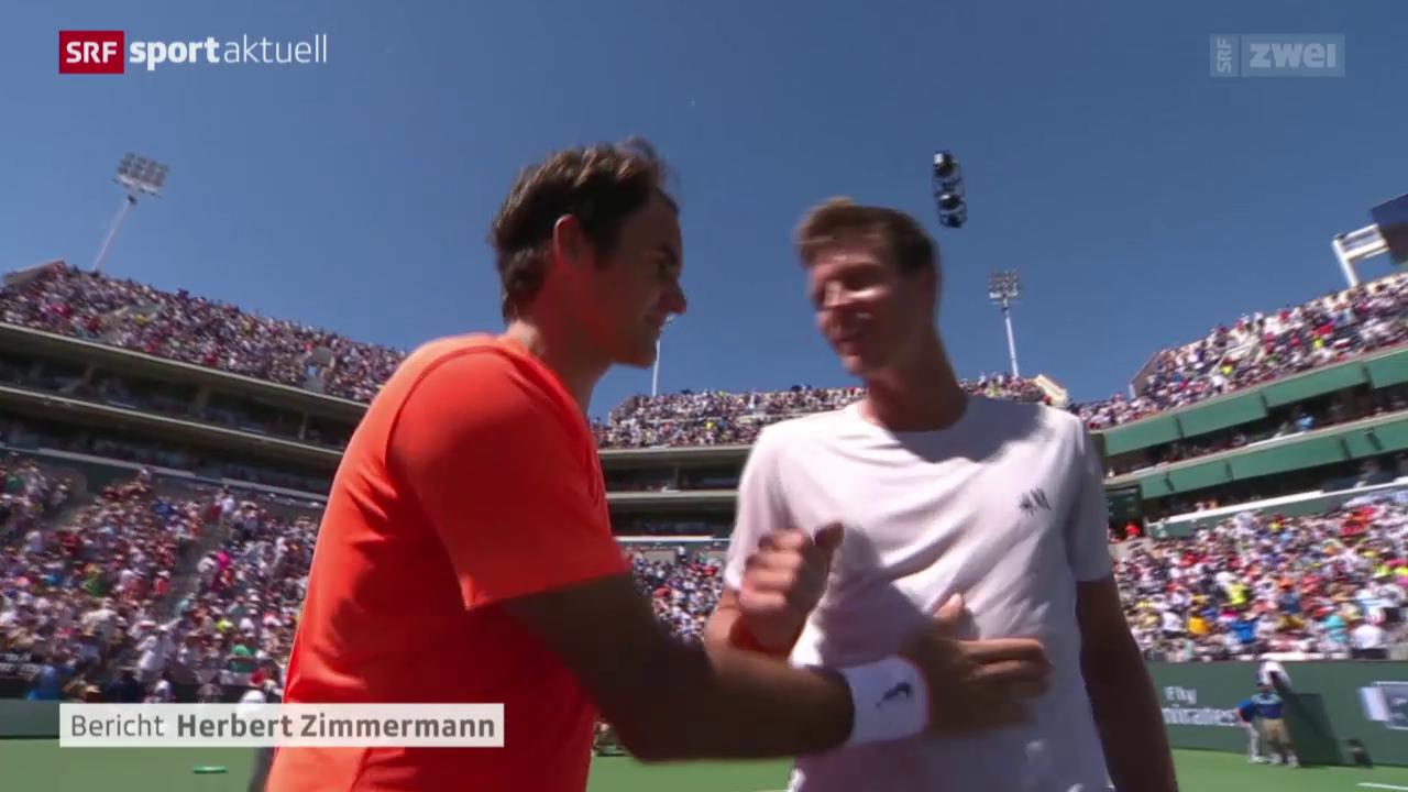 Tennis: ATP Indian Wells Viertelfinal, Federer - Berdych