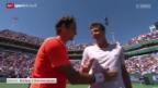 Video «Tennis: ATP Indian Wells Viertelfinal, Federer - Berdych» abspielen