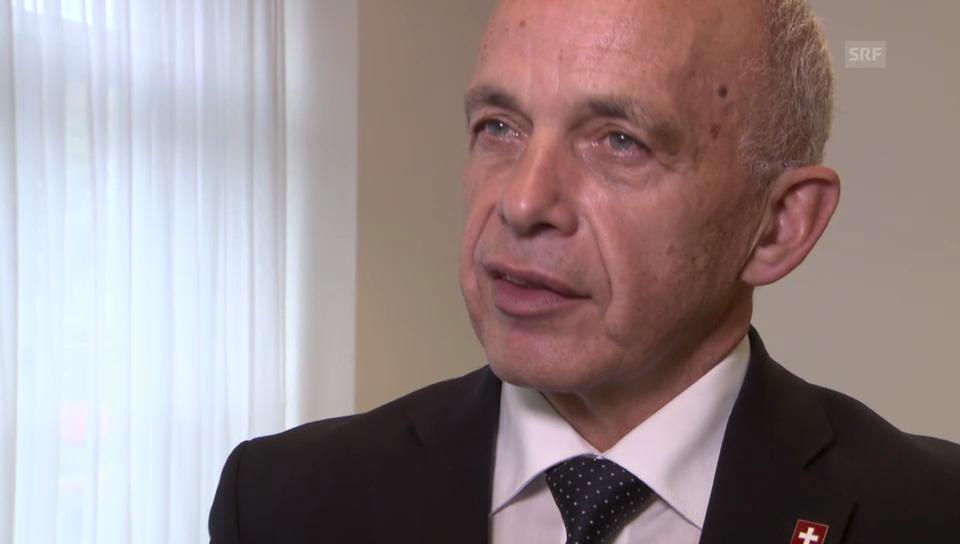 Bundesrat Ueli Maurer zum IS-Verbot