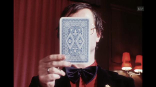 Video «Hermann Burger spielt Zauberer Diabelli, Monatsmagazin vom 19.12.1979» abspielen