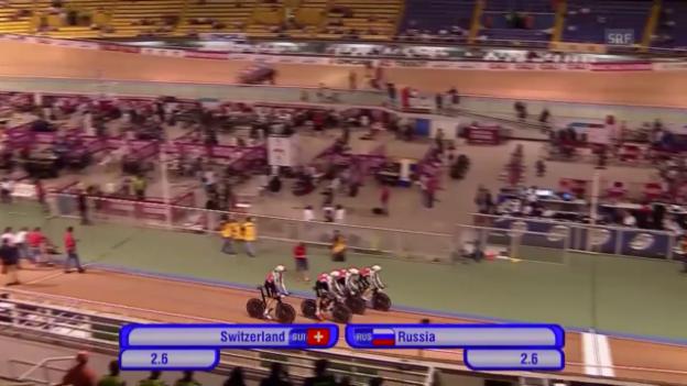 Video «Rad: Bahn-Vierer-Weltcup 2015, Final Schweiz-Russland in Cali» abspielen