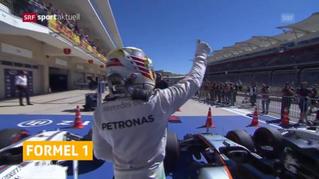 Video «Hamilton im Qualifying der Schnellste» abspielen