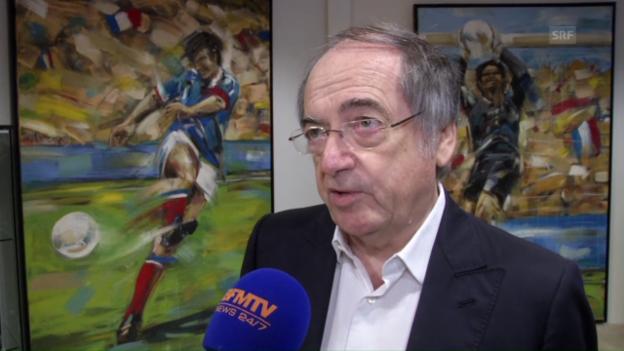 Video «Verbandschef Le Graët: «Eine derart dumme Affäre» (frz.)» abspielen