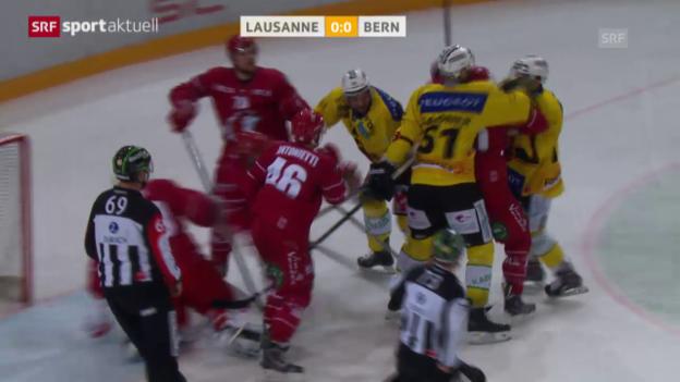 Video «Eishockey: NLA, Lausanne - Bern» abspielen