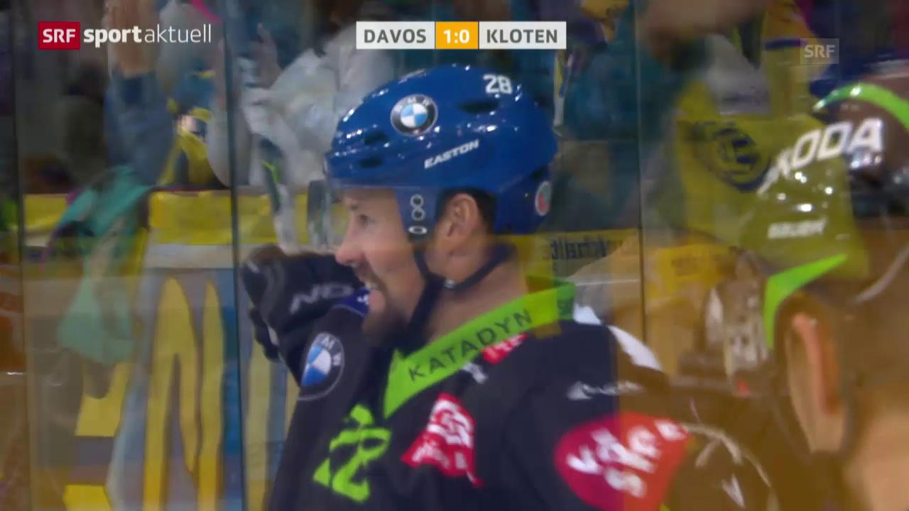 Eishockey: Dick Axelssons Volley-Treffer zum 1:0 gegen Kloten