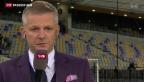 Video «Schweizer Fussball-Nationalmannschaft vor Slowenien-Spiel» abspielen