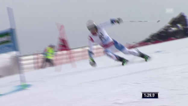 Video «Ski: RS M Sölden, 2. Lauf von Elia Zurbriggen» abspielen