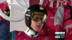 Video «Skispringen: Starker Wind behindert Ammann» abspielen