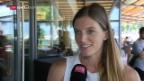 Video «Lea Sprunger vor der Athletissima in Lausanne» abspielen