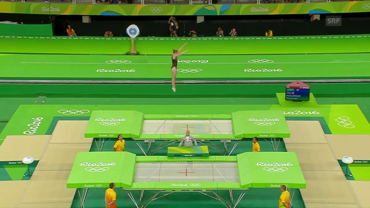 Hoch, höher am höchsten: MacLennan springt in den Trampolin-Olymp