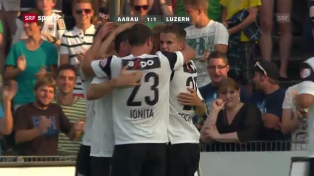 Video «Fussball: Aarau - Luzern («sportaktuell»)» abspielen