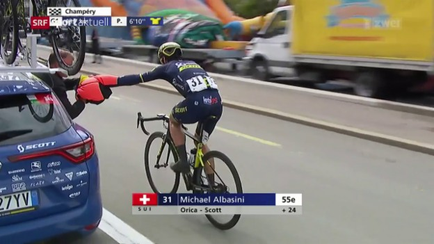 Video «Albasini holt 7. Etappenerfolg an Tour de Romandie» abspielen