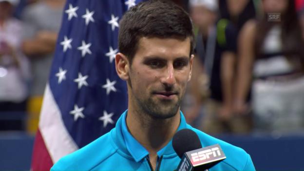 Video «Djokovic: «Du warst der Mutigere»» abspielen