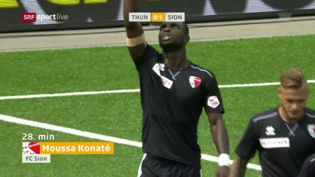 Video «1:0 gegen Thun – Konatés letztes Tor im Sion-Dress» abspielen