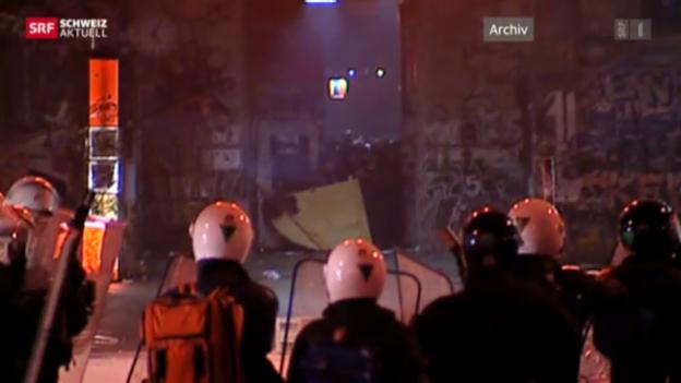 Video «Randale in der Berner Reitschule» abspielen