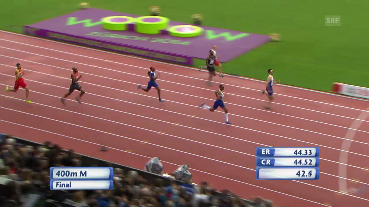 Leichtathletik-EM: 400-m-Final der Männer