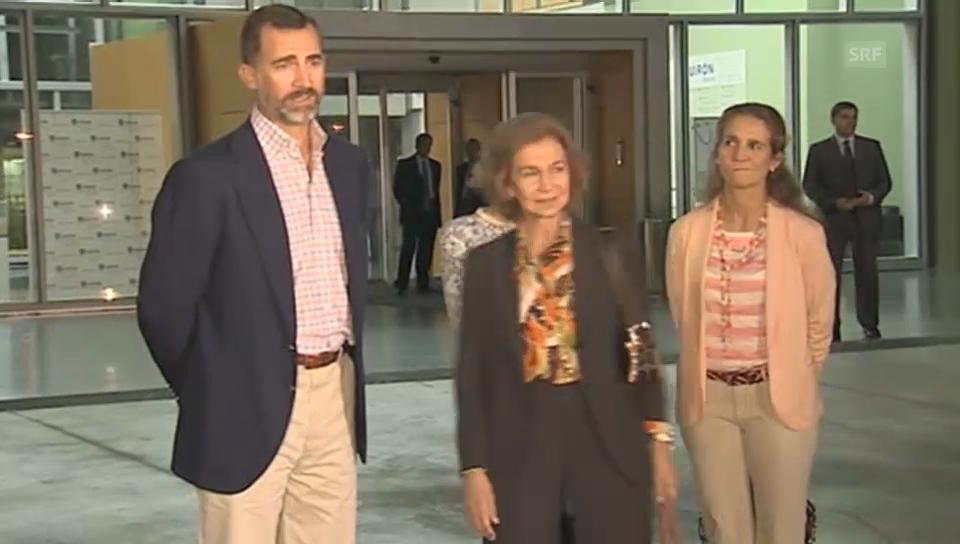 Königin Sofia und Kronprinz Felipe über Juan Carlos Gesundheitszustand