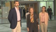 Video «Königin Sofia und Kronprinz Felipe über Juan Carlos Gesundheitszustand» abspielen