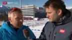 Video «Besuch auf der Biathlon- und Freestyle-Anlage» abspielen
