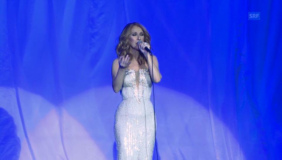 Ausschnitte aus dem Auftitt der 1000. Show von Celine Dion (unkom.)