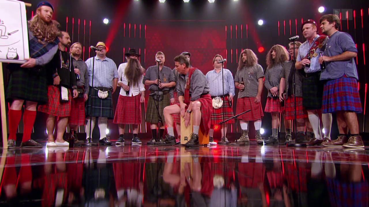 Männerchor «Steili Kressä» singt im Schottenrock
